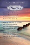 Loving Memory Graveside Memorial Card 16cm x 11cm - In Loving Memory Of My Brother
