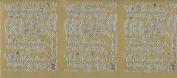 silver craft peel offs words wir heiraten (we marry) wedding etc peel off stickers for crafts