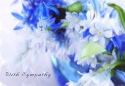 Blue Petal - Beautiful and Tranquil Sympathy Greeting Card