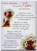 Grave Card - Loving Memories of a Special Nan at Christmas - Free Card Holder - CMX17