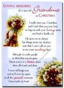 Grave Card - Loving Memories of a Special Grandma at Christmas - Free Card Holder - CMX13