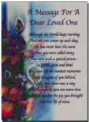 Grave Card - A Message For A Dear Loved One - Free Card Holder - M09X