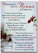 Grave Card - Memories of a Special Nanna at Christmas - Free Card Holder - CMX02