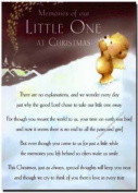 Grave Card - Memories of Our Little One at Christmas - Free Card Holder - CMX11