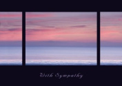 Sea View - Beautiful and Tranquil Sympathy Greeting Card