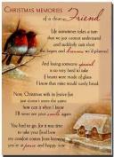 Grave Card - Christmas Memories Of A Dear Friend - Free Card Holder - CMV15
