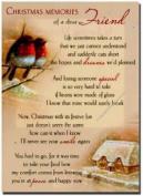 Grave Card - Christmas Memories of a Dear Friend - Free Card Holder - CMX15