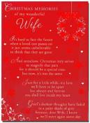 Grave Card - Christmas Memory of my Wonderful Wife - Free Card Holder - CMX04