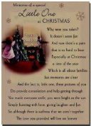 Grave Card - Memories Of A Special Little One At Christmas - Free Card Holder - C5281