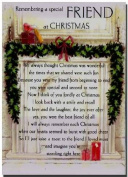 Grave Card - Remembering A Special Friend At Christmas - Free Card Holder - Free Card Holder - C5266