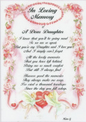 In Loving Memory [of a Dear Daughter]