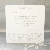 Luxury Pack of 10 Thank You for the Baby Gift Cards