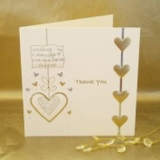 Luxury Wedding Thank you cards - Pack of 5 Cream & Gold
