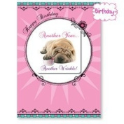 Another Wrinkle - Shar-pei Birthday Magnet Card