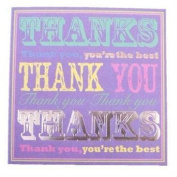 Simon Elvin open thank you cards - oh so very much design - 6 cards with envelopes