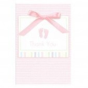 Baby Soft Moments Pink Thank you Cards