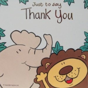 Pack of 10 Jungle Thank You Cards