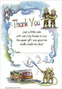 Firemen - 20 Thank You Sheets and Envelopes