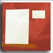 Contemporary Pale Ivory Linen 'Thanks' Thank You Cards-Gold Hot Foil Embossed (Envelopes & Inserts to Print Inc) x 10