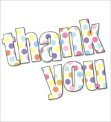 Pack of 8 Contemporary Thank You Cards - Spots