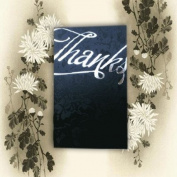 Tapestry Black Broderie 'Thanks' Thank You Cards With Matching Envelopes & Inserts For You to Print x 10