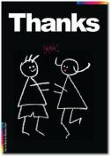 Thank You Card - Chalks Designer Range - Thanks - CK011