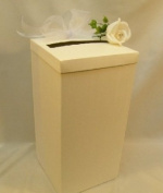 WEDDING CARDS POST MAIL RECEIVING BOX WISHING WELL IVORY
