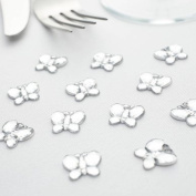 SILVER BUTTERFLIES - BUTTERFLY TABLE DIAMANTES - CONFETTI - 21gm