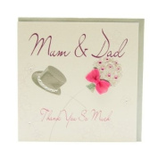 WB18 Mum and Dad Thank you Wedding Card