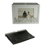 Mr & Mrs Photo Album Box Set (Holds 80 Photos)