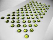Peridot (Green) Rhinestone Self Adhesive Gems SS12 3.5mm - 77 per sheet