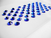 Sapphire (Blue) Rhinestone Self Adhesive Gems SS16 4mm - 52 per sheet