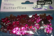 CERISE BUTTERFLIES - BUTTERFLY TABLE DIAMANTES - CONFETTI - 21gm