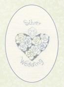 Silver or Diamond Wedding Greeting Card Kit - Cross Stitch Kit