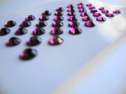 Amethyst (Purple) Rhinestone Self Adhesive Gems SS20 5mm - 39 per sheet