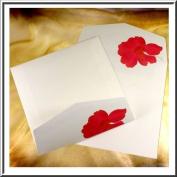 High Quality 152 x 152 Square Floral Printed Envelopes-Gummed x 20