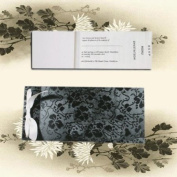 Plain Tapestry Black Broderie Cheque Book Invitations-Envelopes & Inserts to Print Included x 5