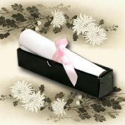 Tapestry Black Broderie Scroll Box Invitations (Comes With Quality White Paper For Printing) x 5