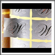 Top Quality Silver Scrolled Edge Wedding Invitation Envelope Seals Silver Embossed 'W' x 100 Seals In Pack