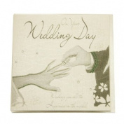 WB153 - Hands & Ring - Wedding Bliss Card 16 X 16 cm