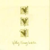 WEDDING EVENING - invitation cards - 6 CARDS & ENVELOPES