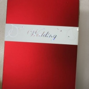 WEDDING' Card Wrap Hologram With Tiny Silver Leaves on Delicate Swirly Stems Card Wraps x 20