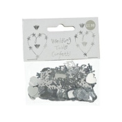 Xpressions 4 U 1 Packet Pack Bag Metallic Silver Table Confetti Sprinkles Wedding Just Married