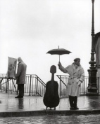 Robert Doisneau Photography Art Print, Musician in the Rain