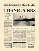 London Herald Photography Art Print, Titanic Sinks