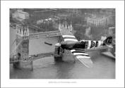 Spitfire Over London Classic Aviation Photo Memorabilia