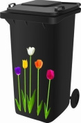 Wheelie Bin Self Adhesive Sticker Kit, Tulip Design