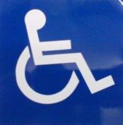 Wheelchair Logo - Car Sticker - DCS24 - INTERNAL