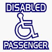 Disabled Passenger - Car Sticker - DCS18 - INTERNAL
