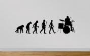 Juko Drummer Evolution Wall Sticker Decal Medium 90cm Wide. Black